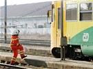 Vyšetřování mimořádné události na nádraží v Rosicích nad Labem, kde rychlík