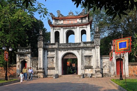 Chrám literatury v Hanoji, Vietnam