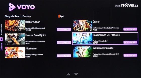 Voyo ve VieraConnect TV Panasonic - výběr podle žánru
