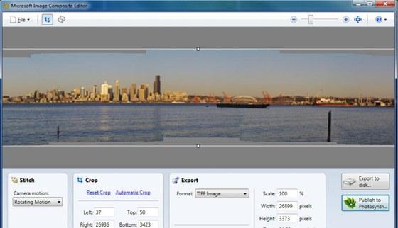 V programu Image Composite Editor si velmi snadno složíte panoramatickou