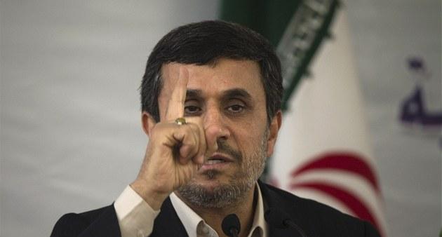 Íránský prezident Mahmúd Ahmadíne�ád b�hem Mezinárodní konference islámské