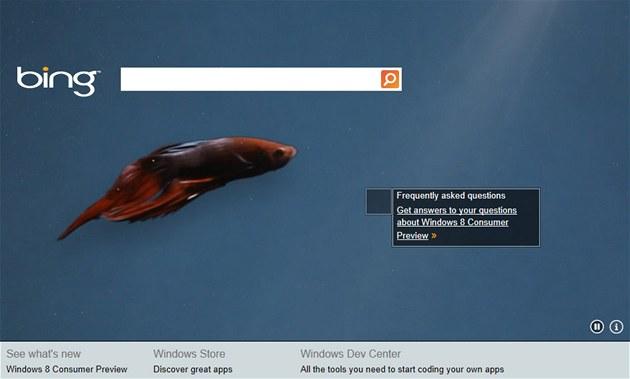 Microsoft propaguje Windows 8 na stránkách vyhledáva�e Bing