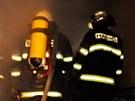 Hasiči likvidovali požár rodinného domku v Toveři na Olomoucku.