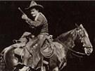 Legendární filmový kovboj Tom Mix, kterého Voskovcova a Werichova Babička Mary