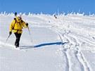 Terén nad rozcestím u Petrovky druhý den po sněžení