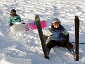Herlíkovice lyžování zima sjezdovka sjezdovky