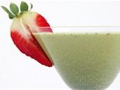 Mléčný koktejl se zeleným čajem matcha povzbudí.