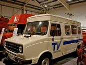 Detekční dodávka Freight Rover Sherpa, která byla do provozu uvedena roku 1983.