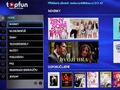 Topfun na Smart TV Samsung - úvodní obrazovka