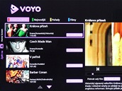 Voyo ve VieraConnect TV Panasonic - úvodní obrazovka