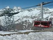 Ten pravý pohled na Matterhorn, jak ho známe z čokoládových tabulek, nabízí