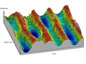 Detail povrchu Volta disku po naskenování