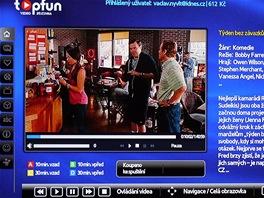 Topfun na Smart TV Samsung - film připraven ke spuštění