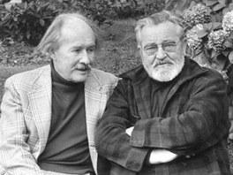 Ji�� Voskovec a Jan Werich ve V�dni v roce 1974