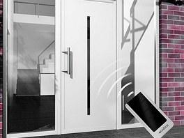 Hliníkové bezbariérové dveře Schücco ADS můžete ovládat i dálkově, info o ceně