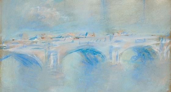 Claude Monet: Most Waterloo, Londýn (1901, sbírka nadace Triton, Nizozemsko)