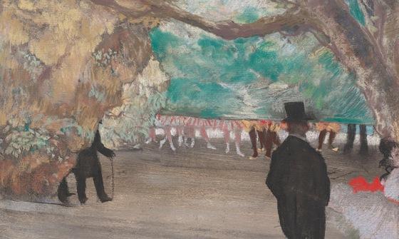Edgar Degas: Opona (1880, sbírka Paul Mellonových)