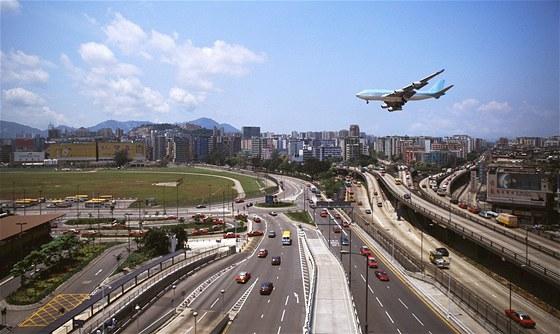 Přistání v Hongkongu