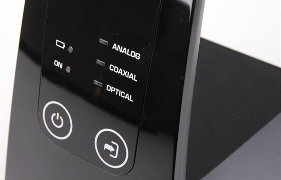 Sennheiser RS220 - ovládací prvky na vysílači