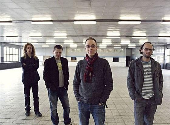 Steve Walsh se svou česko-slovenskou kapelou (zleva Jan Kořínek - varhany,