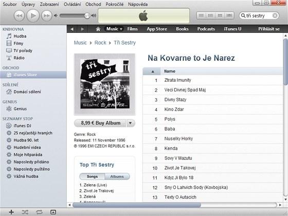 Bez instalace programu iTunes v internetovém obchodě iTunes Store hudbu, filmy
