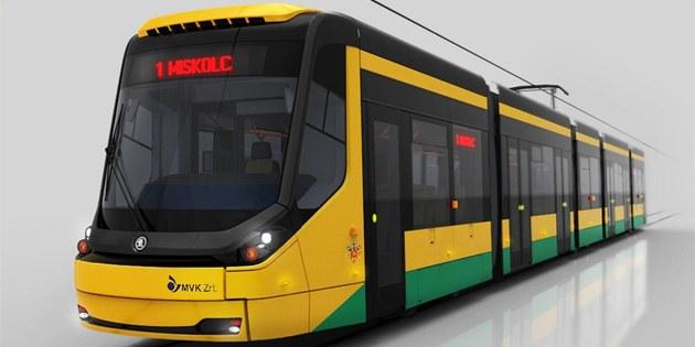 Nová tramvaj Škoda 25T.
