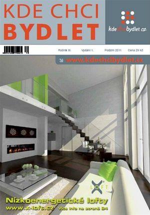 Titulní strana tištěného pololetníku KDE CHCI BYDLET