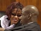 Whitney Houston se svým manželem zpěvákem Bobbym Brownem v roce 2002