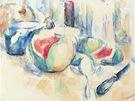 Paul Cézanne: Klidný život s kousky melounu (1900 nadace Beyeler)