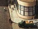 Vpravo hotel Grand v Pardubicích, 50. léta dvacátého století