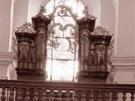 Interiér kostela sv. Floriána ve Svitavách v roce 1960