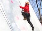 Ledopád se pokusilo zdolat dvacet horolezců z různých měst. Závod v třeskutém