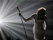 Whitney Houston p�i p�edávání American Music Awards v listopadu 2009.