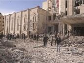 Syrské bezpečnostní složky kontrolují místo exploze ve městě Aleppo (10. února