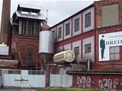 Zaniklý pivovar v centru Opavy.