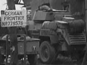 Britské průzkumné jednotky u německých hranic