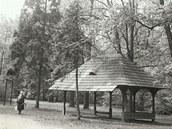Altánek v zámeckém parku Kinských ve Valašském Meziříčí postavený podle návrhu