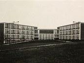 Masarykovy školy ve Zlíně, na jejichž místě dnes stojí Kongresové a univerzitní