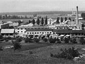 Areál firmy TON v Uherském Hradišti na snímku z 50. let