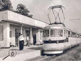 Pionýrská železnice v Plzni.