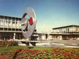 Archivní snímek plzeňského výstaviště s logem ExPlzeň