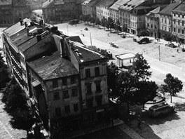 Soubor historických domů Krecl na Masarykově náměstí v Jihlavě.