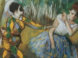 Edgar Degas: Harlekýn a Kolombína (1886, Vídeň)