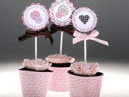 Valentýnské čokoládové cupcakes