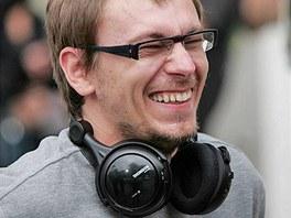 Režisér Jiří Vejdělek při natáčení filmu Roming (4. srpna 2006)