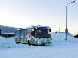 Nízkopodlažní elektrobus českého výrobce už slouží turistům jako skibus.
