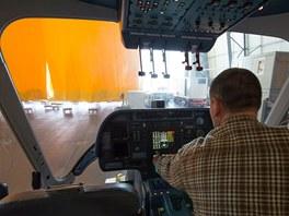 Kokpit nové vzducholodi Zeppelin NT