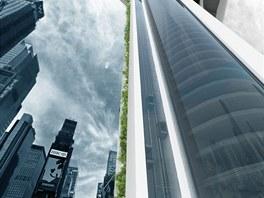Vizualizace: detail výtahů