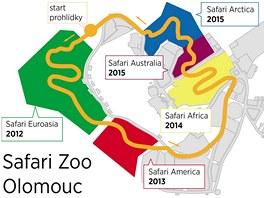 Jednotlivé etapy budoucího safari v olomoucké zoo na Svatém Kopečku.