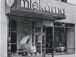 Prodejna prost�jovsk� ml�k�rny, pozd�ji sodovk�rny